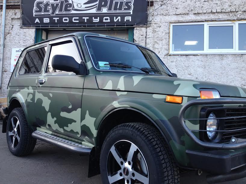Оклейка камуфляжной пленки на авто в Днепропетровске